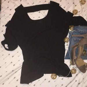 Sz M black flowy top🖤✨open sleeves & back ✨
